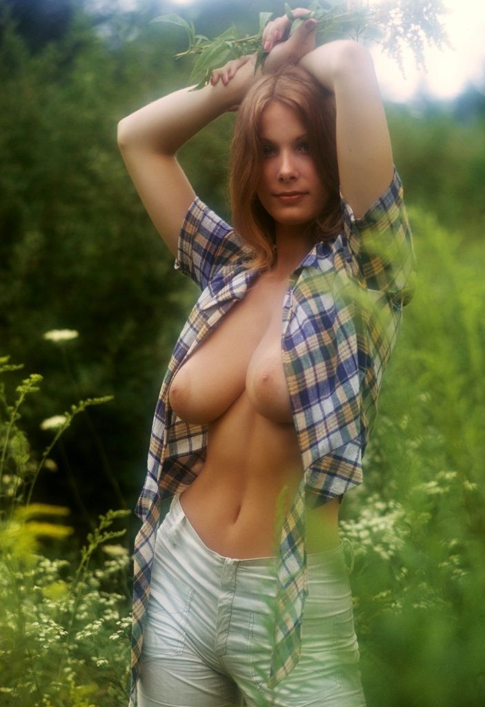 brunette girl with nice full breasts