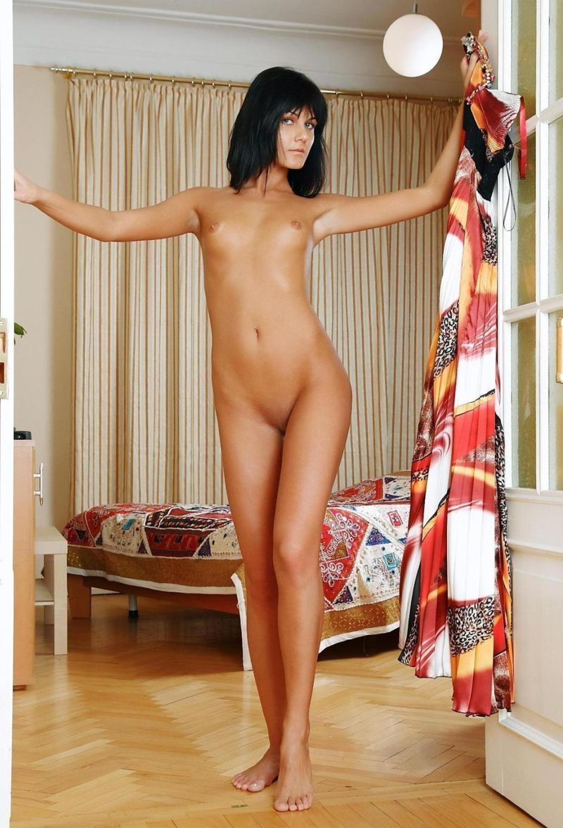young black haired girl with large labia minora