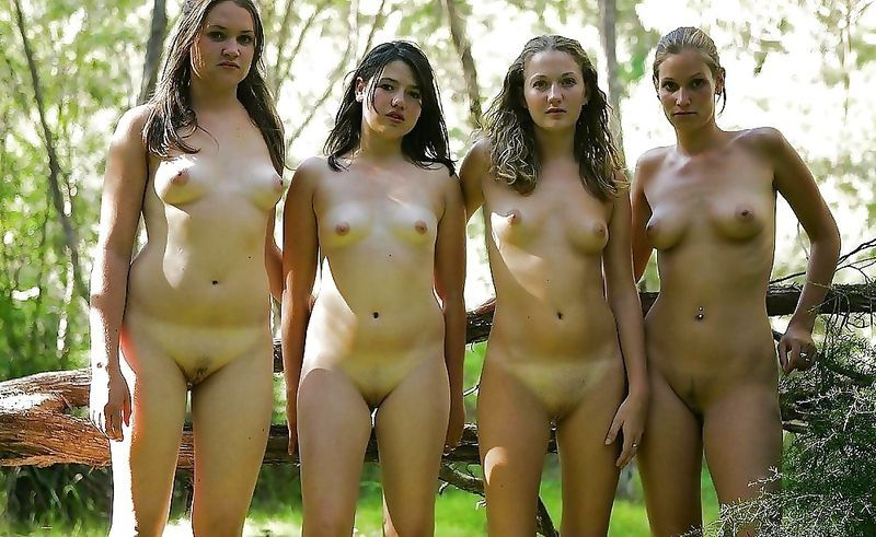 naked girls gathering