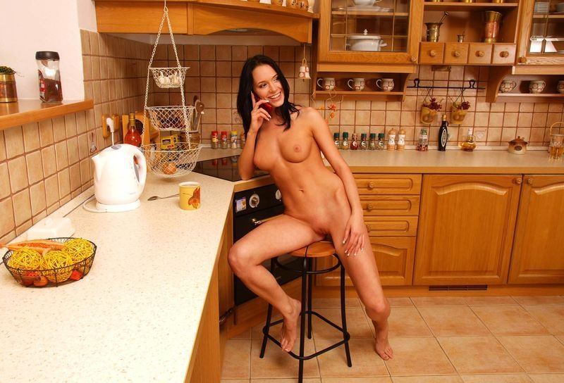 Porn tube nake women in kitchen lady