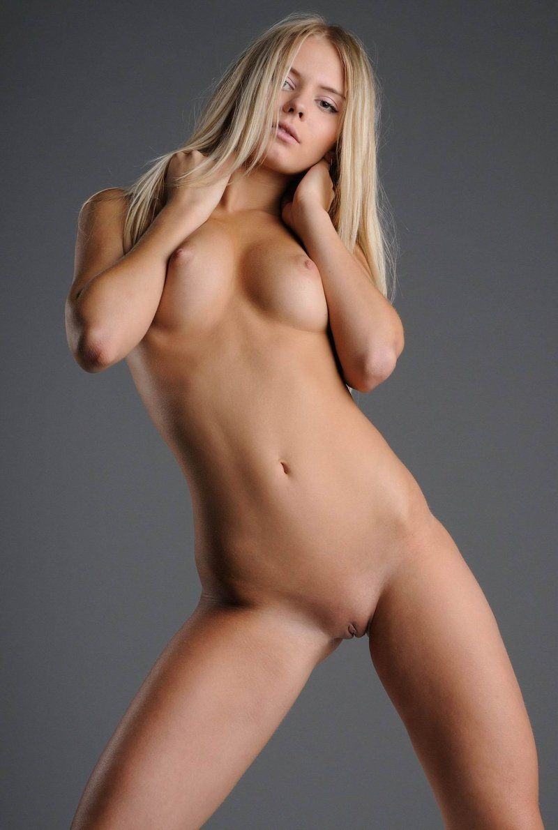 Blonde fur in naked white