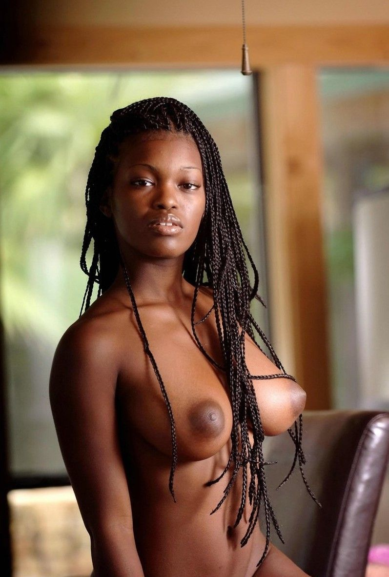 Naked black haired girl