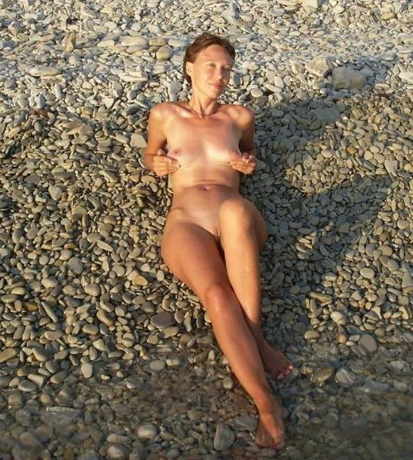 naked girl naturists on a nude beach