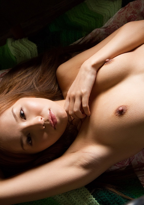 young asian japanese girl reveals on the floor in various rooms at home