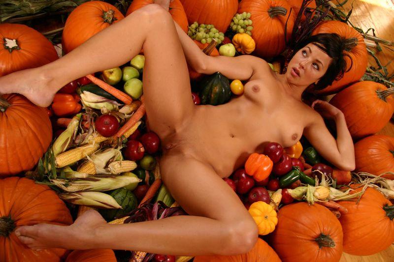порно с овощами фруктами