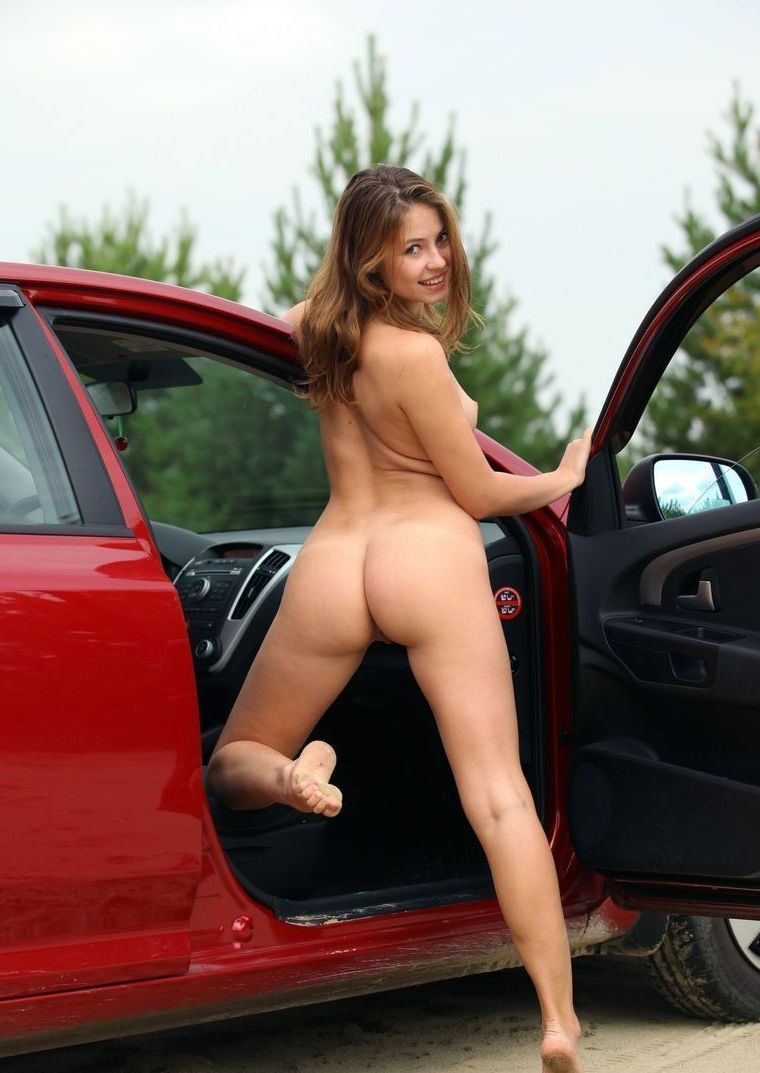 Naked girls posing on cars Goes!