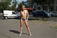 Babes: body art girl on the street