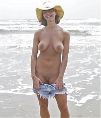 Babes: naked girl naturists on a nude beach