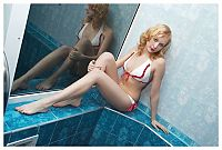 Babes: reddish blonde girl in a spa
