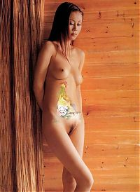 Babes: asian girl with japanese body painting