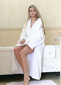Nake.Me search results: blonde girl with big natural breasts reveals her bathrobe in the bathroom
